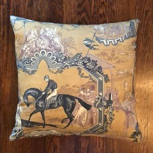 French-printed pillow